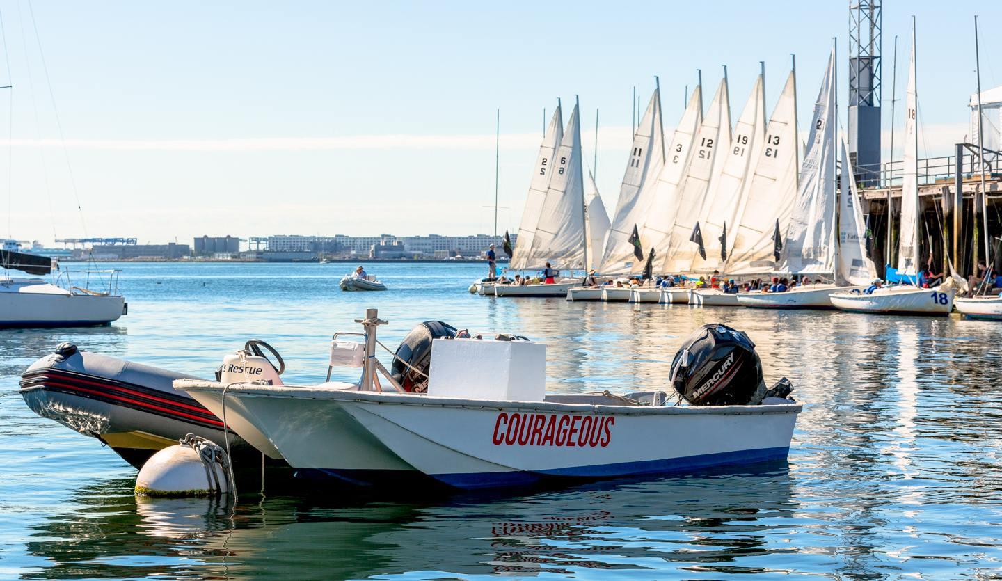 Courageous Sailing in Charlestown