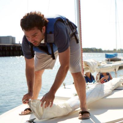 learn to sail - basic keelboat