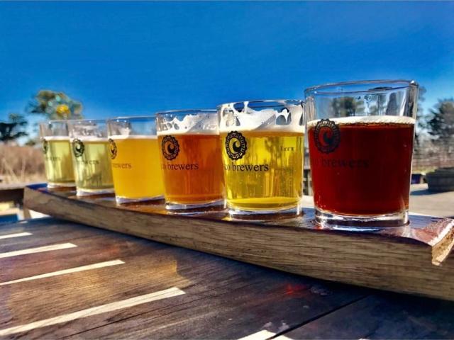 Cisco Brewers flight of craft brew